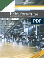 """licht.forum 56 """"Sicherheitsbeleuchtung für Arbeitsstätten"""""""