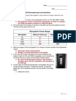 gel electrophoresis lab questions - answer key