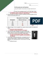 gel electrophoresis lab questions - answer key