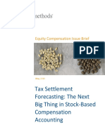 Equity Methods - ECIB - Tax Settlement Forecasting