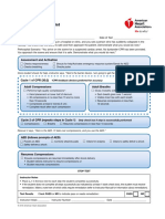 BLS Adult Skills Checklist 2016