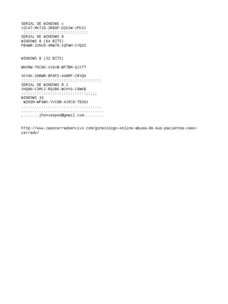 serial de windows 8.1 64 bits español