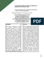 Evaluación de La Soldadura Entre Dos Metales Disimiles No Ferrosos Por Proceso Smaw - PDF