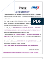 13536622 to Study the Consumer Behaviour in Max Lifestle Retail Lucknow