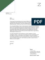 cover letter dentsu