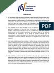Comunicado Presidencia de La CEV