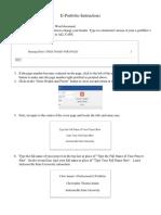 dnp competency eportfolio instructions