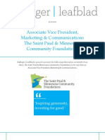 The Saint Paul & Minnesota Community Foundations - AVP, Marketing & Communications