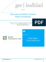 Bush Foundation - Education Portfolio Director