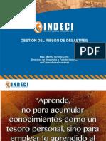 Fundamentos de La Gestión Del Riesgo de Desastres Unidad 1 Personal INDECI