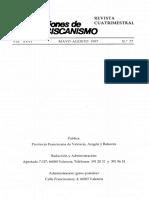 MICO J., Comentario a La Regla de 1223 (II). Selecciones de Franciscanismo 77 (1996) 227-241