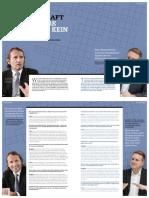 Eine gute Führungskraft darf für ihre Mitarbeiter kein Rätsel sein. Ein Interview mit Dr. Christian Abegglen und Markus Franz. Staufen Magazin.