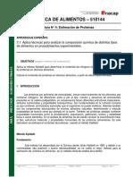 Guía de Estimación de Proteínas