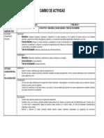 formulario 1 cambio de actividades  8° básico