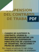 SUSPENSIÓN DE CONTRATO DE TRABAJO