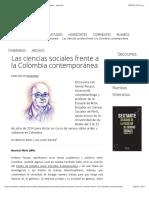 Las ciencias sociales frente a la Colombia contemporánea - sextante