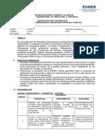 ESTRUCTURA DEL SILABO-Presupuesto Privado y Publico