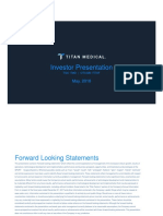 Titan Medical Investor Presentation May 2018