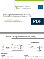 policy implications for urban logistics - insights from three major european cities