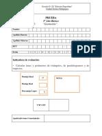 prueba 5° año matematica-área y perímetro