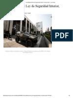 Inconstitucional Ley de Seguridad Interior Resuelve Juez La Jornada
