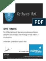 Karthik Chintapenta Hired Certificate