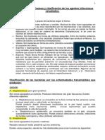 Examen y Clasificación de Los Agentes Infecciosos Estudiados