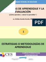 1. Estrategias de Aprendizaje y La Evaluación