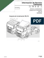 Material Esquema Lubricacion Camiones Fm Fh Volvo v2 Servicio Mantenimiento Puntos Simbolos Cambio Aceite