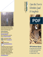 Open the Door to Bobwhite Quail & Songbirds - Iowa DNR Brochure