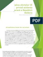 Analiza Ofertelor UE Privind Asistența Finanaciară a Republicii Moldova