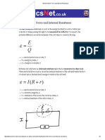 Electromotive Force and Internal Resistance
