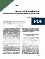 Formação e intervenção psicossociológica
