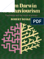 From Darwin to Behaviourism, Psychology and the Minds of Animais - ROBERT BOAKES (1984) [INDEX]