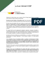 MSP Explica El Art 146 Del COIP