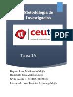 Tarea1A BayronMaldonado 31321182 HumbertoZelaya 31221352