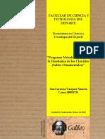 FACULTAD de CIENCIA Y TECNOLOGÍA DEL DEPORTE. Programa Metodológico Para La Enseñanza de Los Clavados (Saltos Ornamentales)