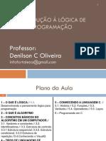 Introdução à Lógica de Programação_Aluno - Prof. Denilson C. Oliveira