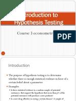 COURSE 3 ECONOMETRICS 2009 hypothesis testing.ppt