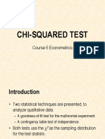 COURSE 5 ECONOMETRICS 2009 chi square.ppt