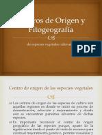 Centros de Origen y Fitogeografía