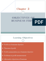 Objectives of Businesss Firm