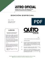 Ordenanza 197:2017 Impuesto Predial Quito
