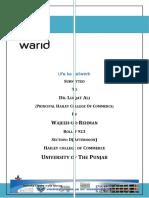 Warid internship report