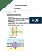 Guía Resumen Transporte de Membrana