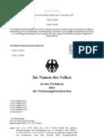 BVerfG, Urteil des Zweiten Senats vom 20. Dezember 2007 zur Verfassungswidrigkeit der Arbeitsgemeinschaften nach dem SGB II