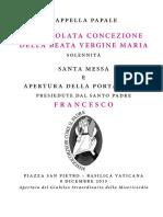 20151208 Libretto Apertura Giubileo Straordinario