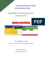 Apuntes Universitarios analisis numerico