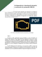 Siteme Si Metode de Diagnosticare a Functionarii Sistemelor de Depoluare a Motoarelor de Automobil (OBD II)