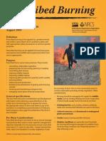 Prescribed Burning - Iowa Job Sheet, Conservation Practice 338, August 2009